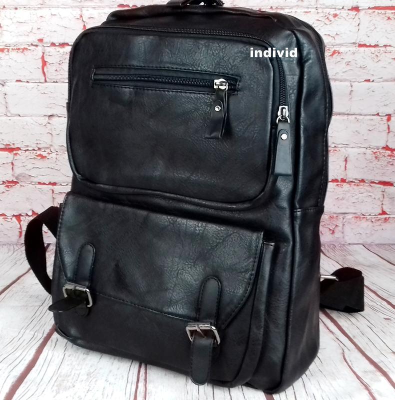Кожаный рюкзак. мужской портфель. сумка для ноутбука.  сумка д... - Фото 6