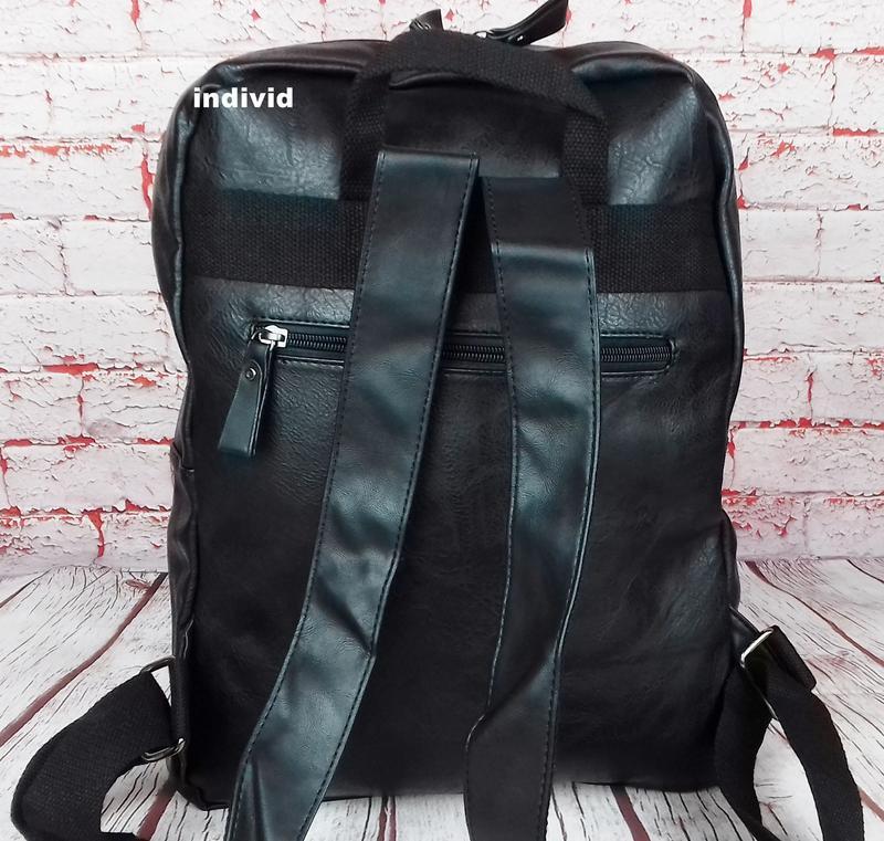 Кожаный рюкзак. мужской портфель. сумка для ноутбука.  сумка д... - Фото 7