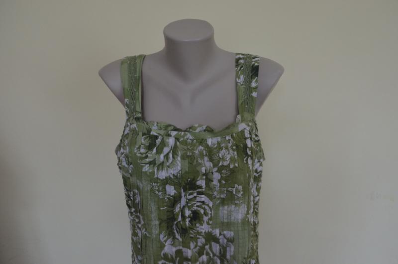 Очень красивое платье-сарафан из хлопка с кружевом - Фото 3