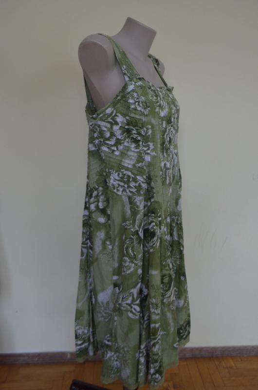 Очень красивое платье-сарафан из хлопка с кружевом - Фото 4