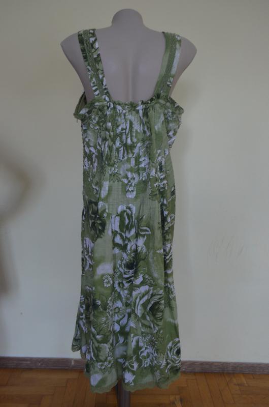 Очень красивое платье-сарафан из хлопка с кружевом - Фото 5