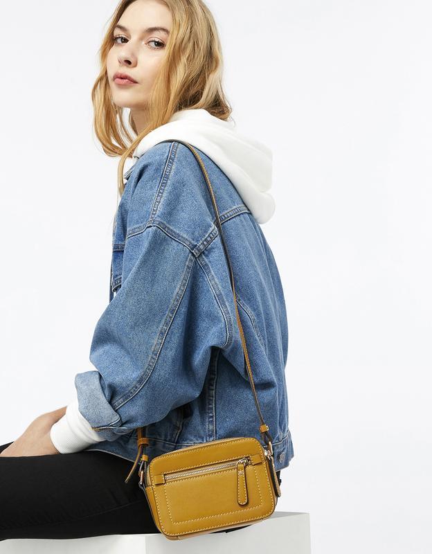 Стильная желтая сумочка кроссбоди англия