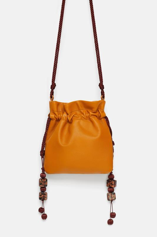 Оригинальная кожаная сумка zara