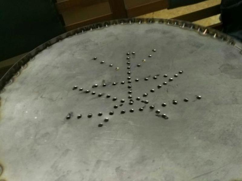 Чабань с нержавейки (чайный столик)