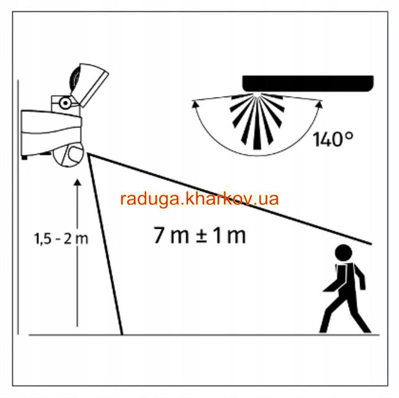 Светодиодная Лампа двойная,прожектор с датчиком движения,гарантия - Фото 4