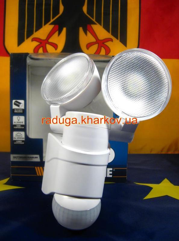 Светодиодная Лампа двойная,прожектор с датчиком движения,гарантия - Фото 5