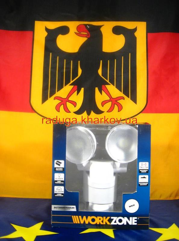 Светодиодная Лампа двойная,прожектор с датчиком движения,гарантия - Фото 2