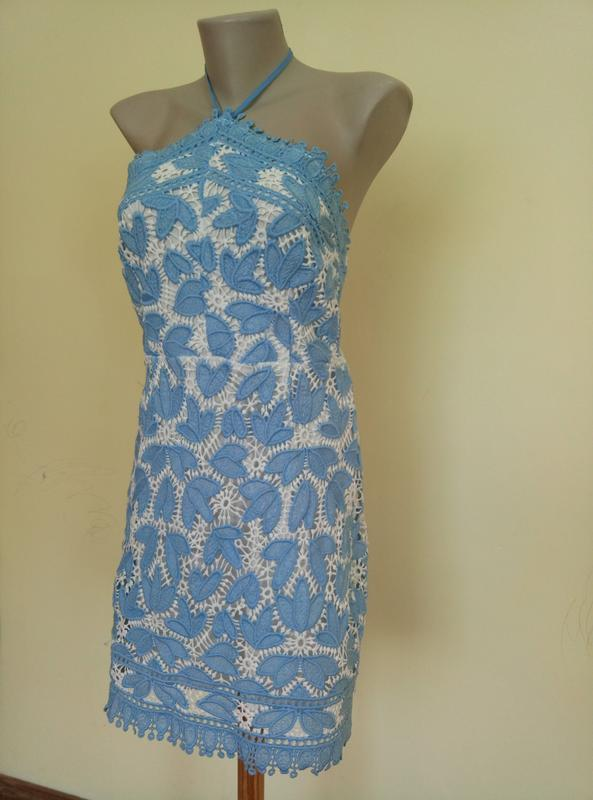 Классное брендовое гипюровое платье