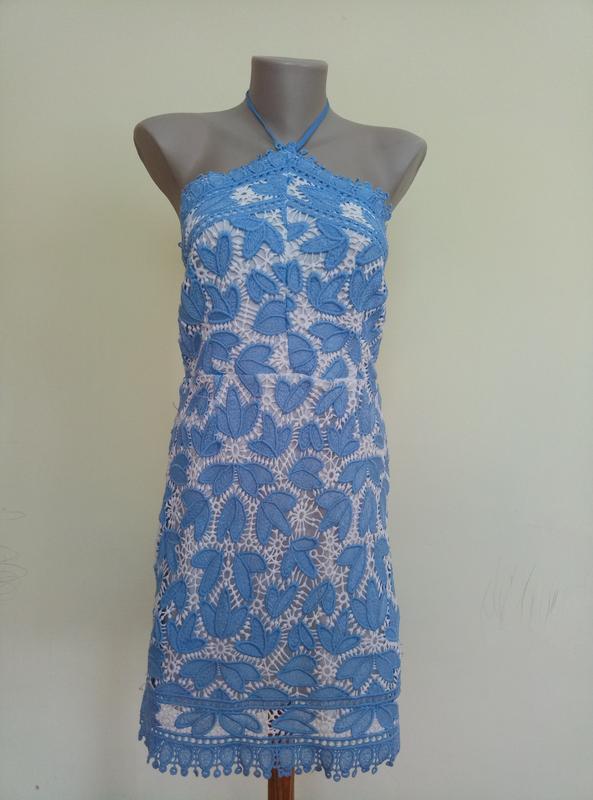 Классное брендовое гипюровое платье - Фото 2