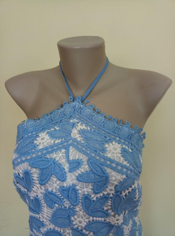 Классное брендовое гипюровое платье - Фото 4