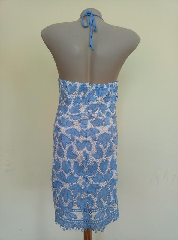 Классное брендовое гипюровое платье - Фото 5