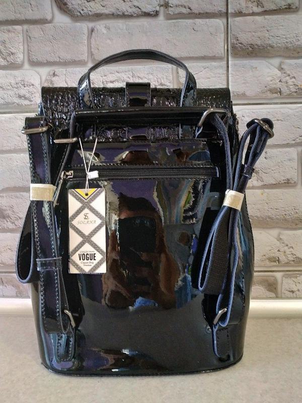 Кожаный шикарнейший рюкзак - Фото 3