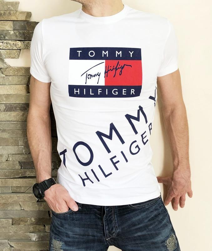 Футболка Tommy Hilfiger white - Фото 3