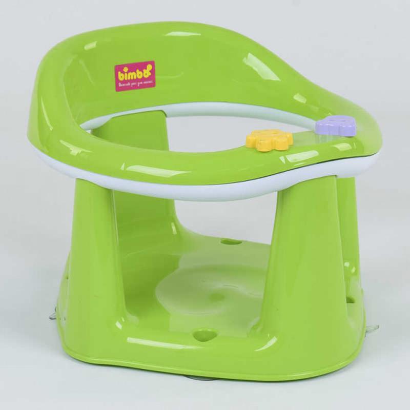 Детское сиденье, стульчик для купания на присосках Bimbo Салат.