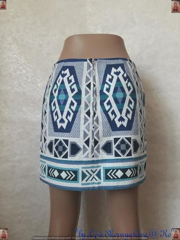 Фирменная h&m офигенная мини юбка в орнамент в етно/бохо стиле... - Фото 2