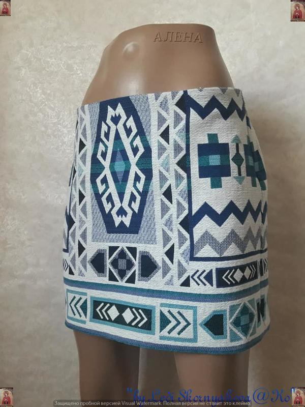Фирменная h&m офигенная мини юбка в орнамент в етно/бохо стиле... - Фото 4