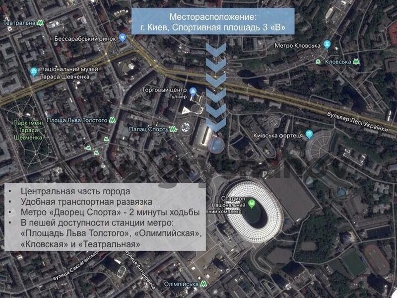 Дворец Спорта ОФІС 100м2 БЕЗ КОМІСІІ - Фото 4