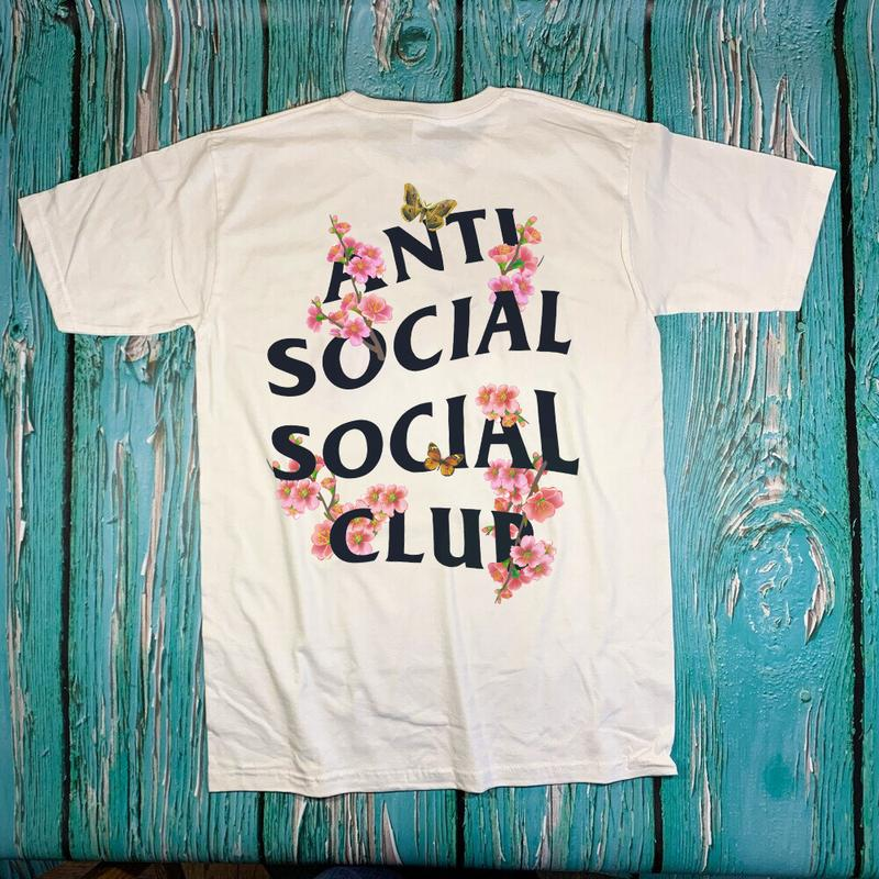 Футболка anti social social club белая •футболка сакура•футбол...