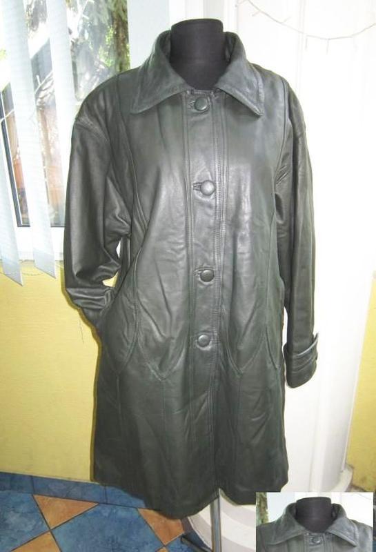 Большая женская кожаная куртка. германия. лот 638