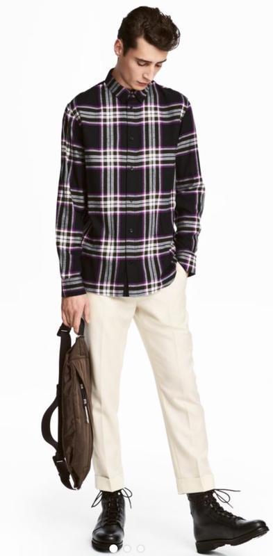 Рубашка мужская в клетку от H&M STUDIO