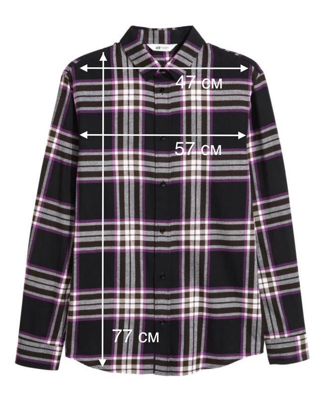 Рубашка мужская в клетку от H&M STUDIO - Фото 2