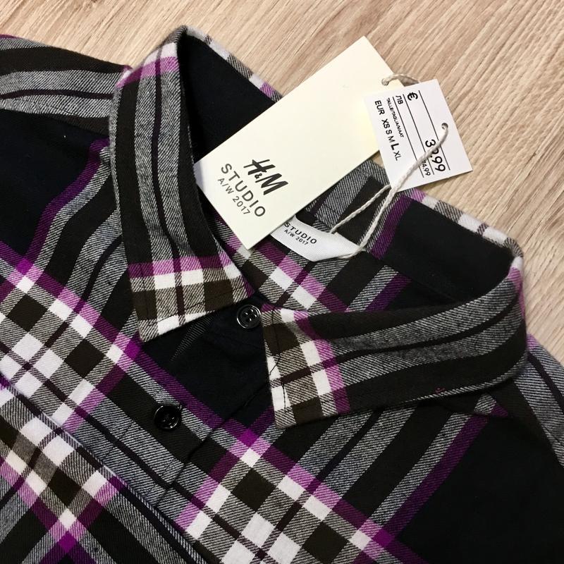 Рубашка мужская в клетку от H&M STUDIO - Фото 5