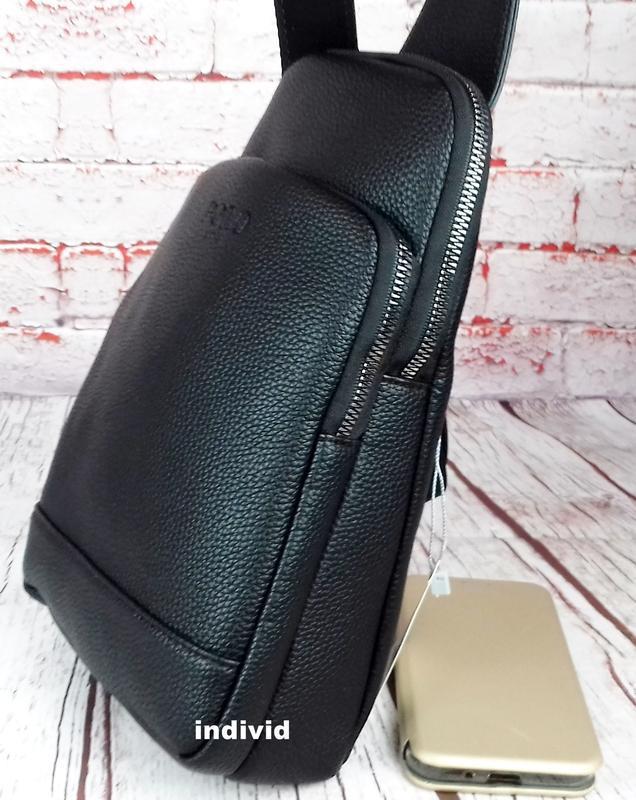 Кожаный рюкзак polo. мужская сумка поло. мужская барсетка. кож... - Фото 4