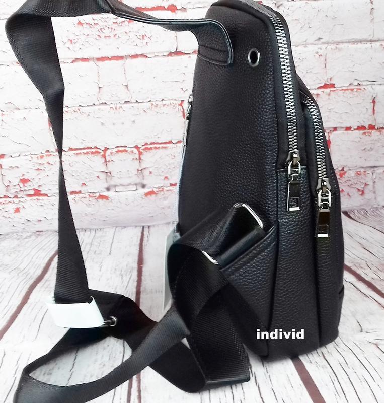 Кожаный рюкзак polo. мужская сумка поло. мужская барсетка. кож... - Фото 6