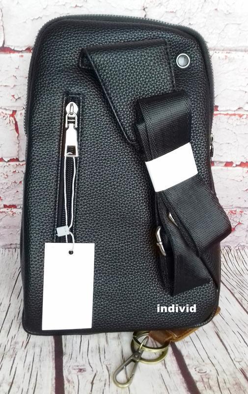 Кожаный рюкзак polo. мужская сумка поло. мужская барсетка. кож... - Фото 8