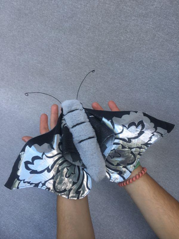 Арт-текстиль бабочек, текстильные интерьерные бабочки