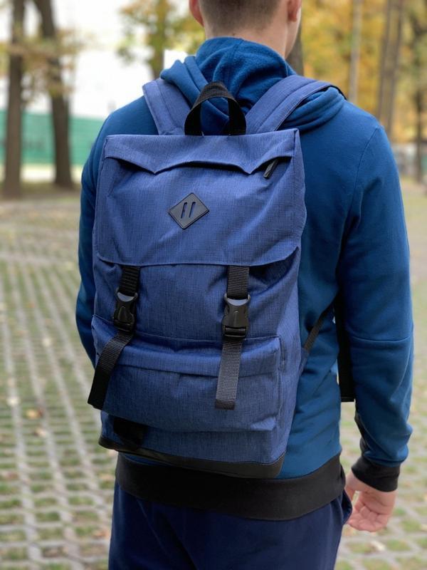Рюкзак мужской синий, рюкзак для ноутбука - Фото 2