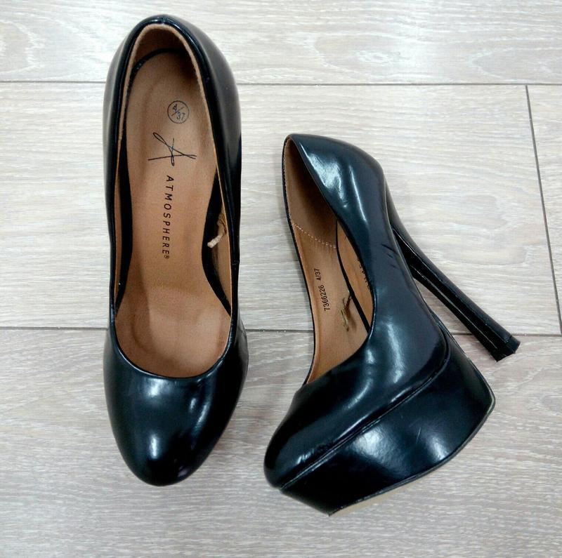 """🔥 обвал цен 🔥шикарные черные туфли на высоком каблуке от """"atmo..."""