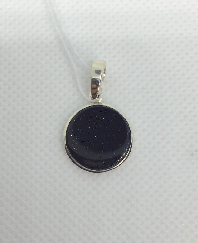 Новый серебряный подвес авантюрин серебро 875 пробы