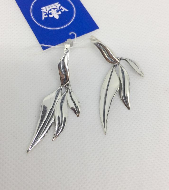 Новые серебряные серьги серебро 925 пробы