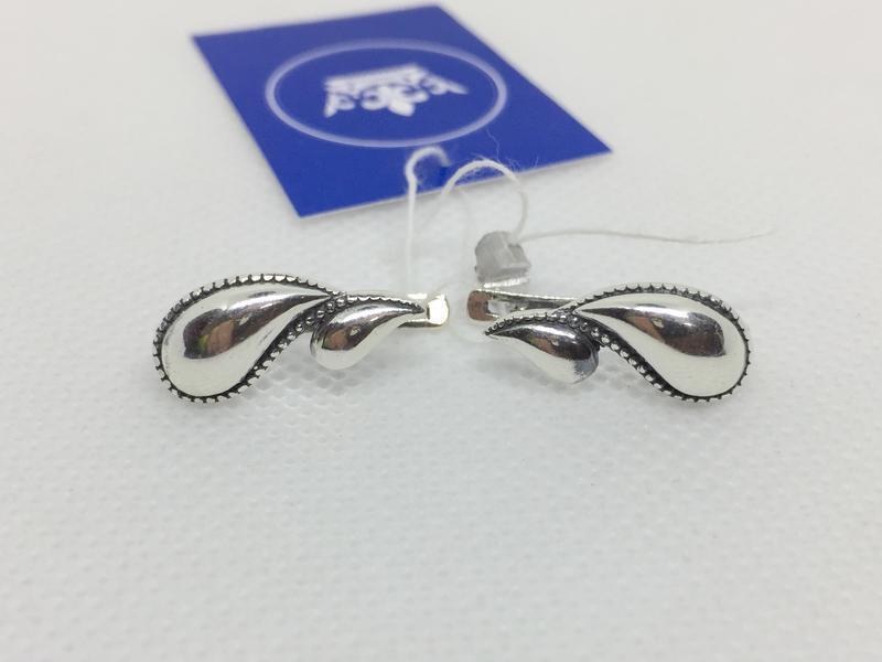 Новые красивые серебряные серьги серебро 925 пробы