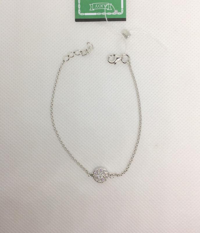 Новый родированый серебряный браслет 17,0-19,5 см серебро 925 ...