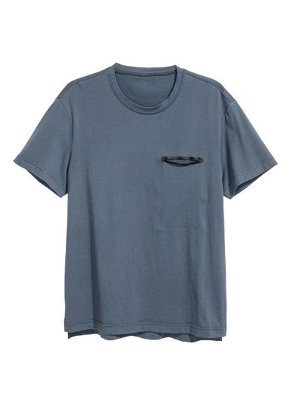 Темная спортивная футболка h&m sport ! - Фото 2