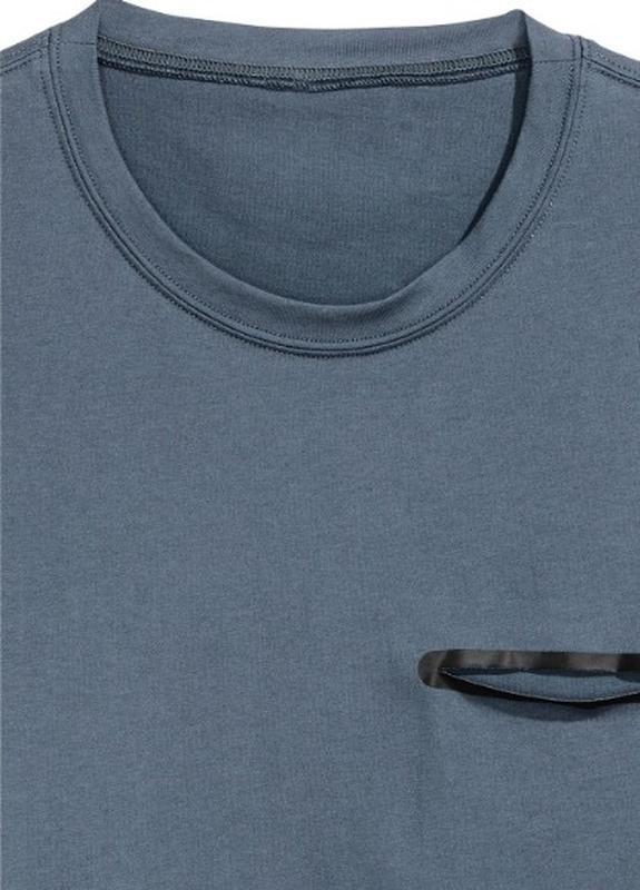Темная спортивная футболка h&m sport ! - Фото 3