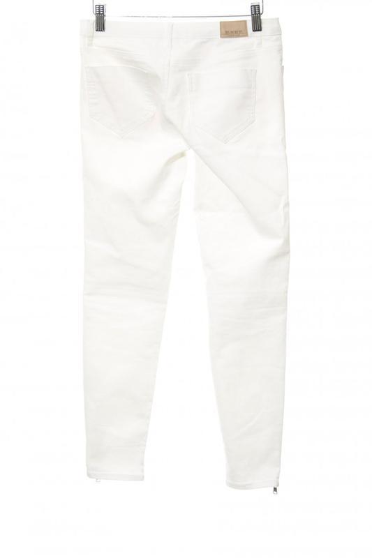 Белые джинсы skinny ZARA - Фото 2