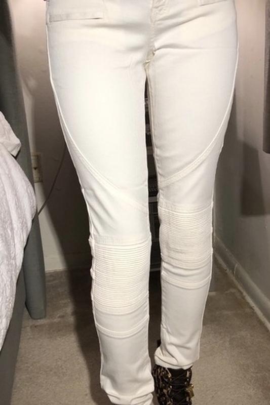 Белые джинсы skinny ZARA