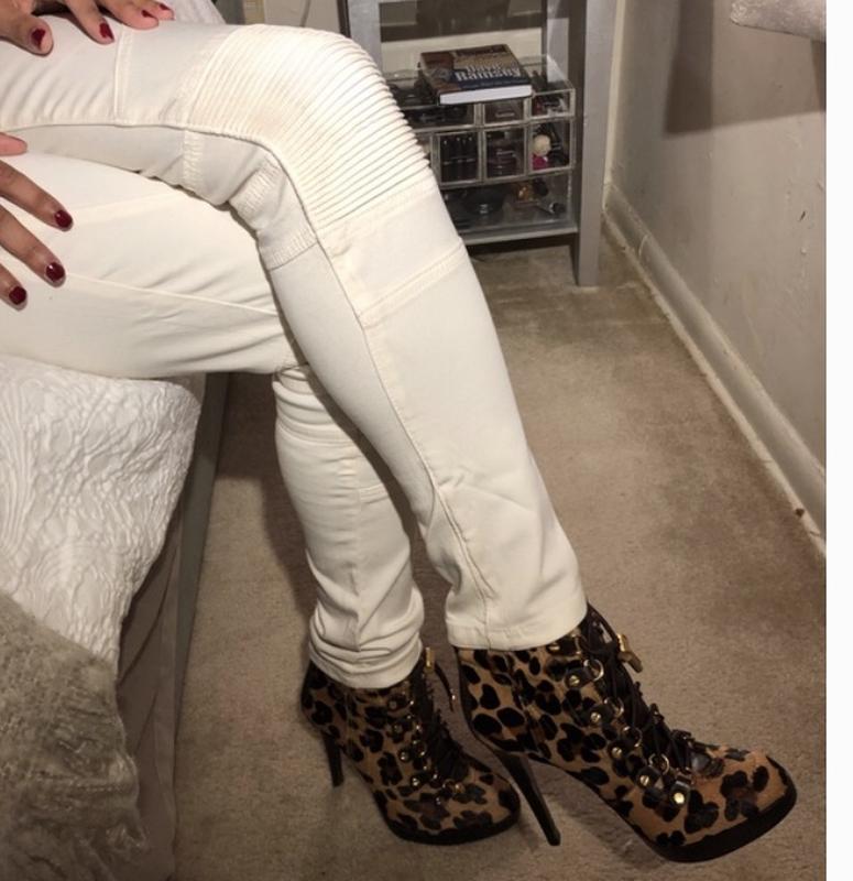 Белые джинсы skinny ZARA - Фото 4