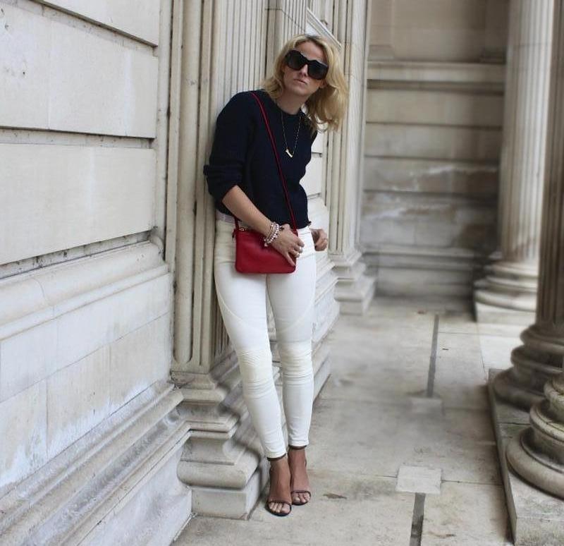 Белые джинсы skinny ZARA - Фото 5
