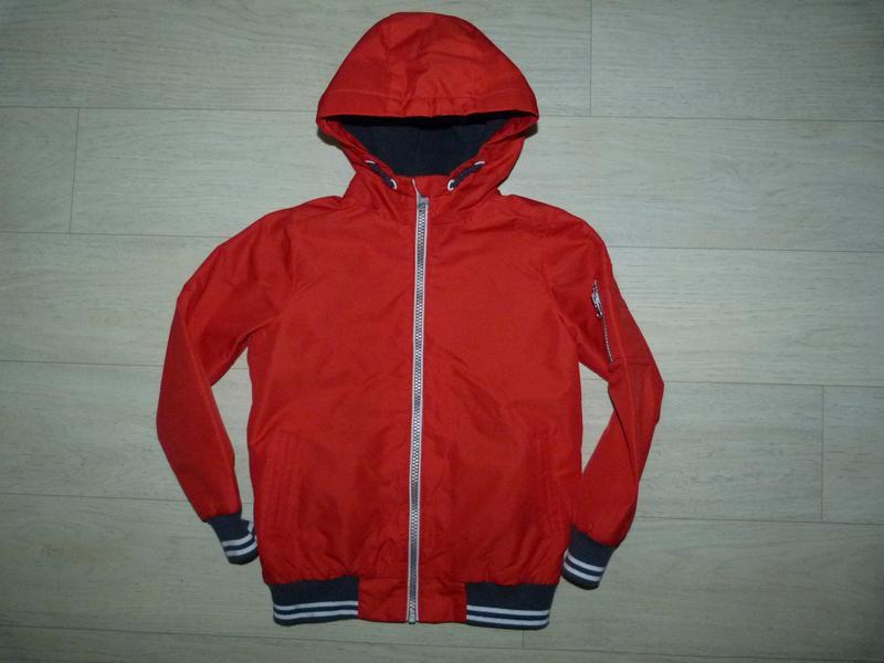 Ветровка на флисовой подкладке, куртка nutmeg 5-6 лет