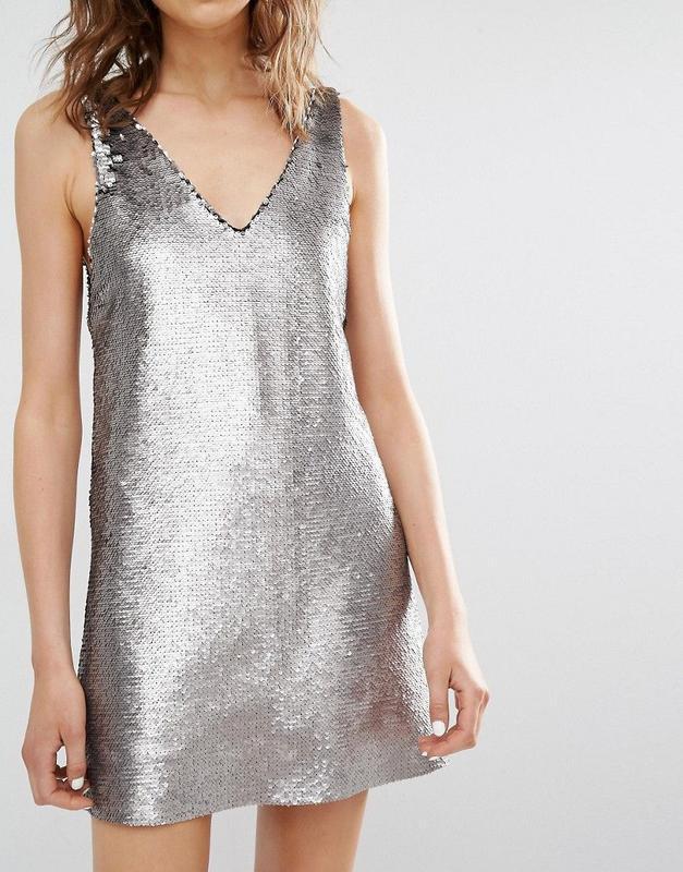 Крута коктейльна сукня mango срібло, р.l-m