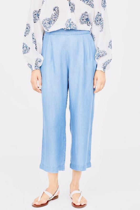 Голубые брюки кюлоты h&m !