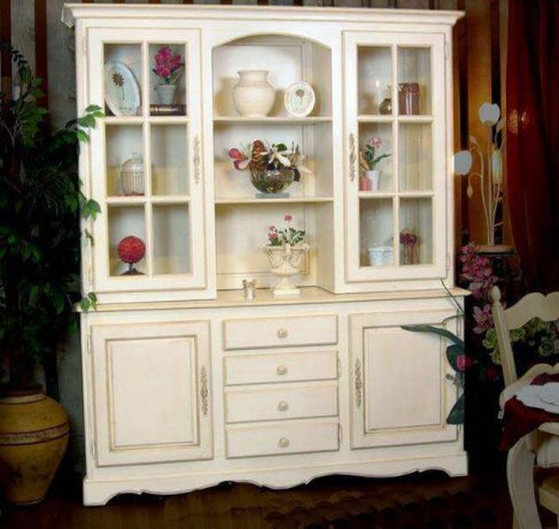 Сервант-книжный шкаф,идеален под покраску в стиле прованс. - Фото 2