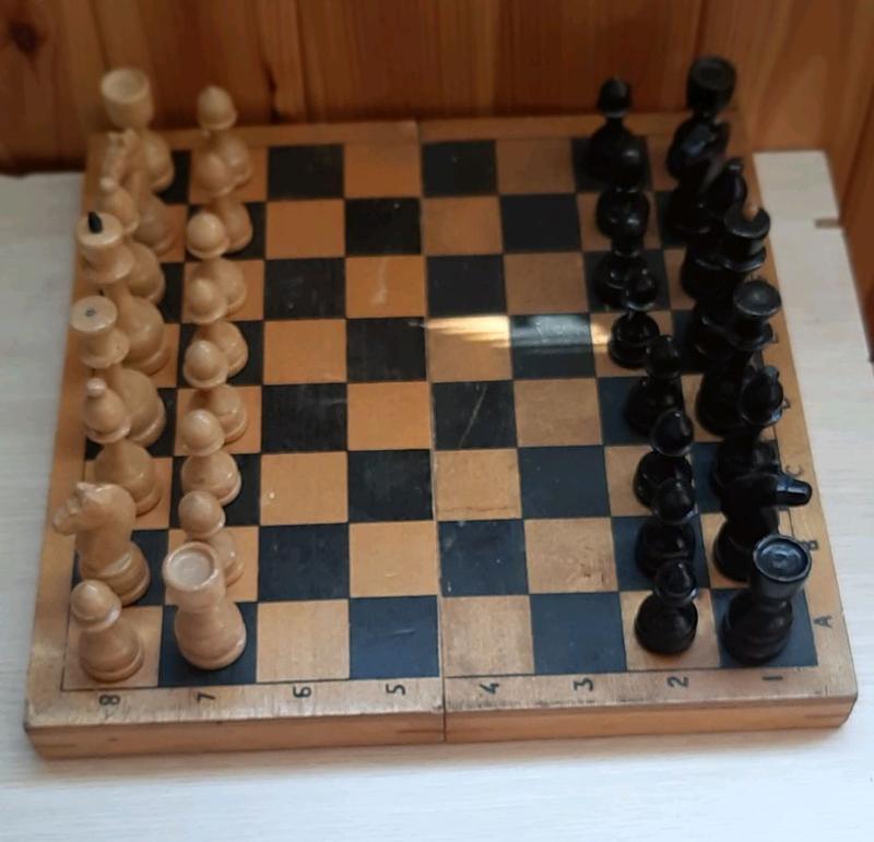 Деревянные шахматы СССР, доска 30х30