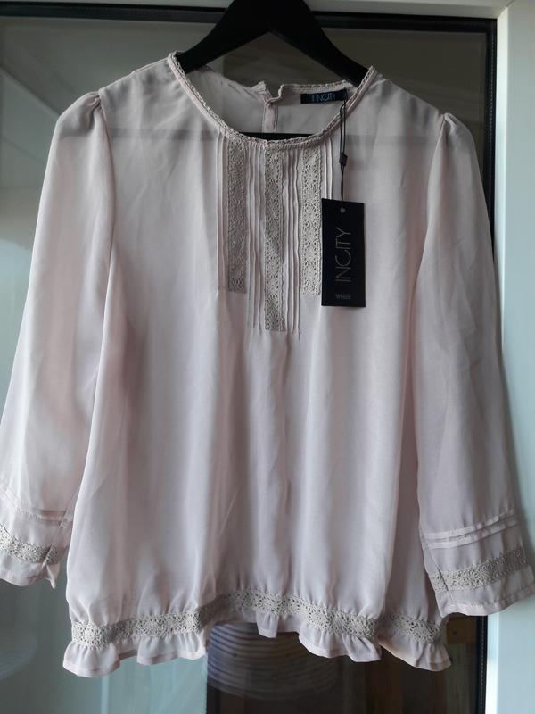 Воздушная блузка цвета нюд - Фото 2