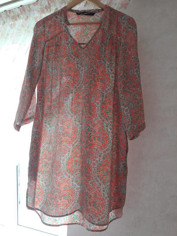Платье-рубашка zara, размер с\м