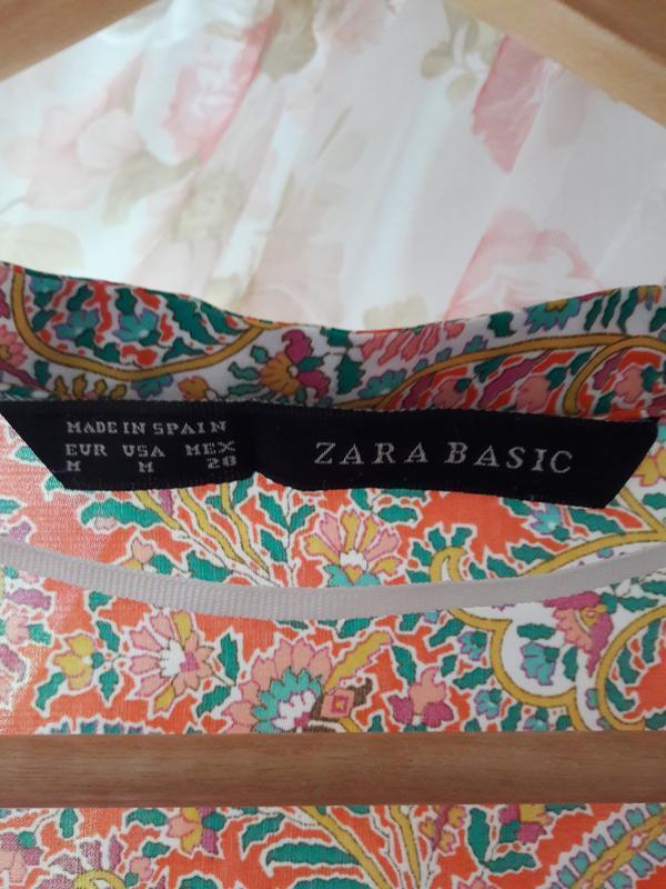 Платье-рубашка zara, размер с\м - Фото 2